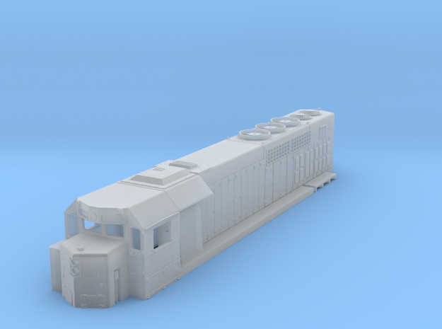 1:87 GP38h-3 in Smooth Fine Detail Plastic