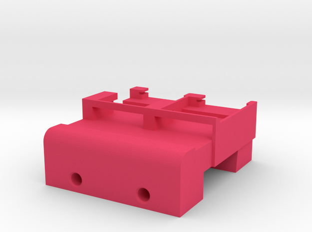 Neoden 2-Gang, 24mm feeder block in Pink Strong & Flexible Polished