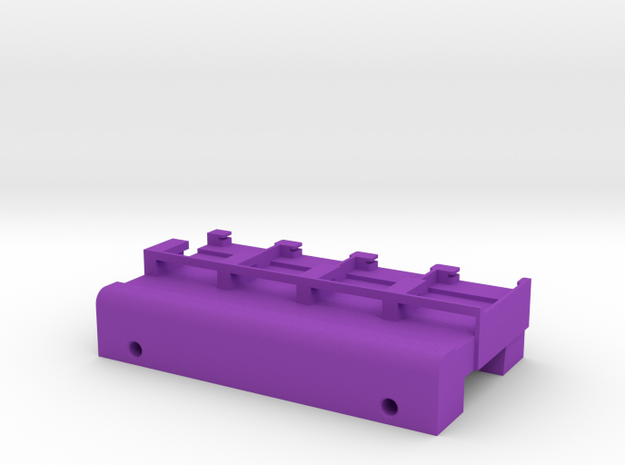 Neoden 4-Gang, 24mm feeder block in Purple Strong & Flexible Polished