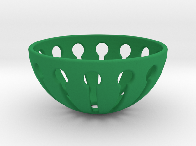 Tingling Toy Balls Basket  in Green Strong & Flexible Polished