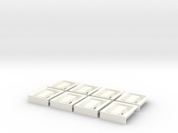 1.6 POIGNEES ATTACHES CAPOT X8 in White Processed Versatile Plastic