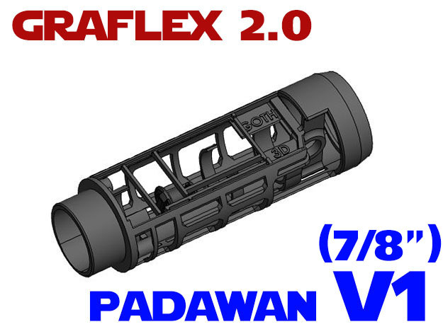 Graflex 2.0 - Padawan Chassis V1 - All-in-1 in White Strong & Flexible