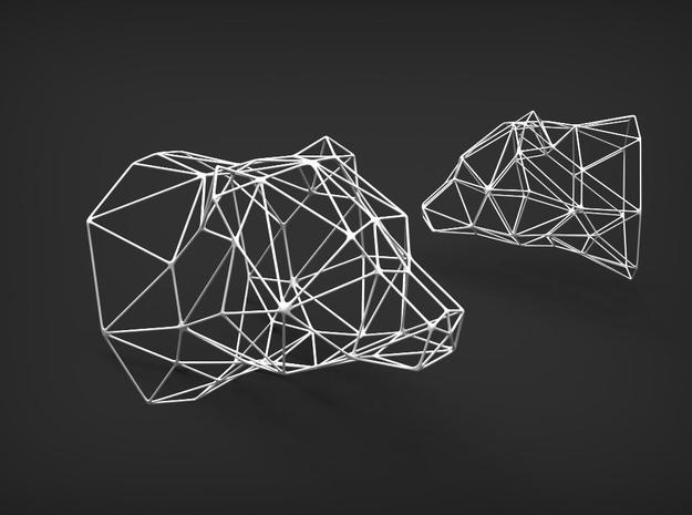 Wireframe Model in White Strong & Flexible