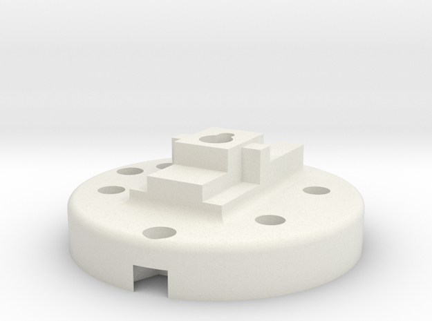 Kossel Mini Mount Plate in White Natural Versatile Plastic