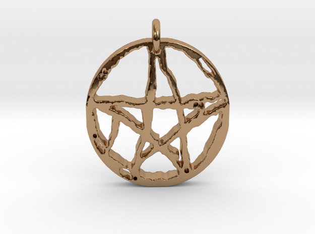 Rugged Pentacle 1 by Gabrielle in Polished Brass