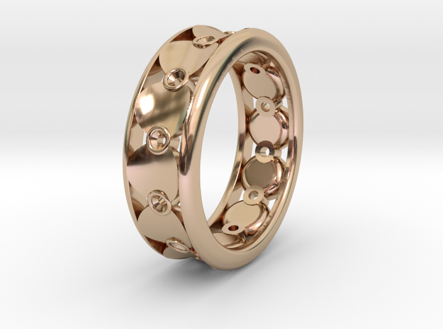 Mambo Circle Ring Circleception in 14k Rose Gold Plated Brass