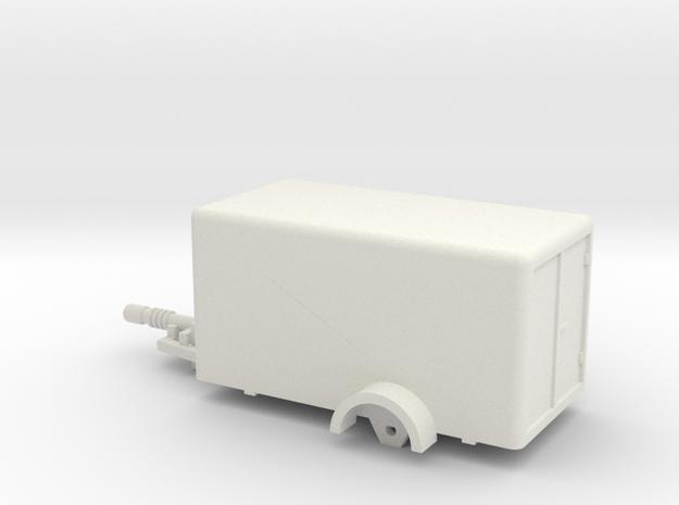 1020 Box Trailer Ho 1:87 in White Natural Versatile Plastic: 1:87 - HO