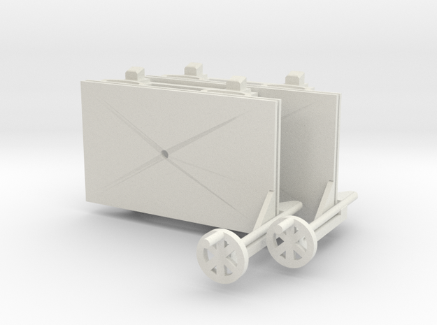 A-1-43-wagon-d-class-bogie-12-1 in White Natural Versatile Plastic