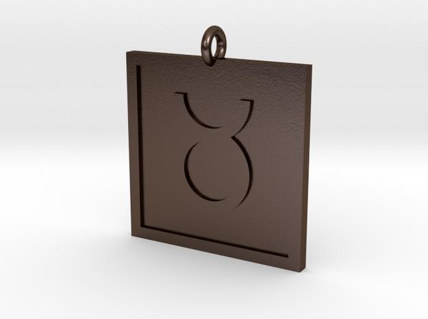 Taurus Pendant in Polished Bronze Steel