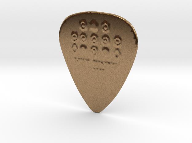 Luck Rising 1 MM PROTOTYPE II Guitar PICK in Raw Brass