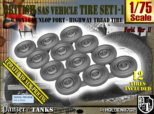 1/75 HW 600x16 Tire Set1-1 in Frosted Extreme Detail