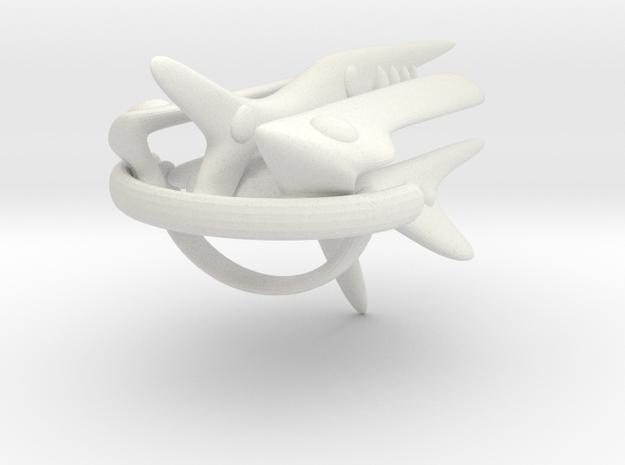 Jujoban Battleship in White Natural Versatile Plastic
