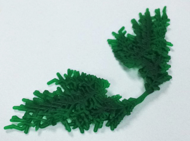 Parametric Necklace v.1 in Green Processed Versatile Plastic