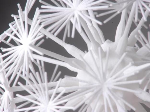 Dandelion abstract art piece 3d printed Medium Close