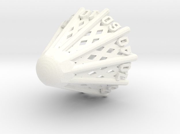 Badminton D00 in White Strong & Flexible Polished