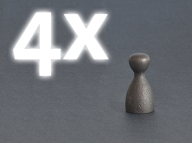 4x Game Pieces [STEEL] 3d printed