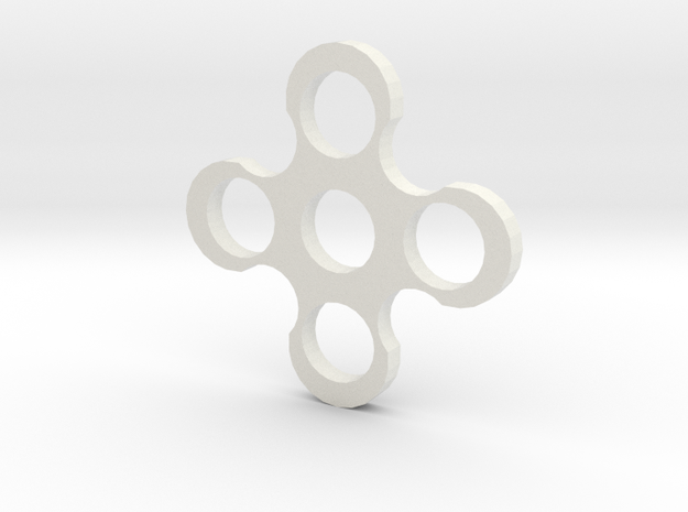 Fidgit Spinner2 in White Natural Versatile Plastic