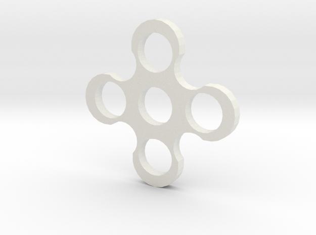 Fidgit Spinner2 in White Natural Versatile Plastic