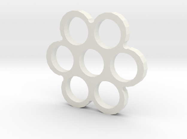 Snowflake Spinner in White Natural Versatile Plastic
