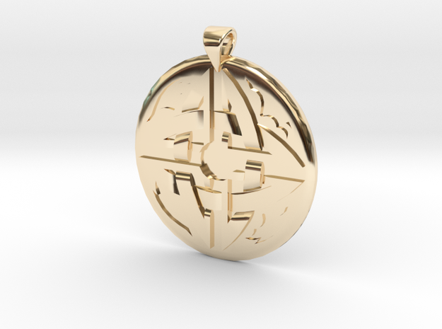 Celtic Knot 3 Pendant in 14k Gold Plated