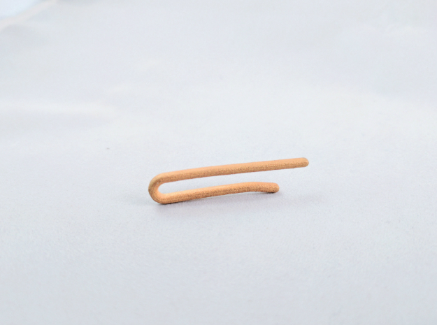 Ultra Slim Tie Bar in Polished Gold Steel