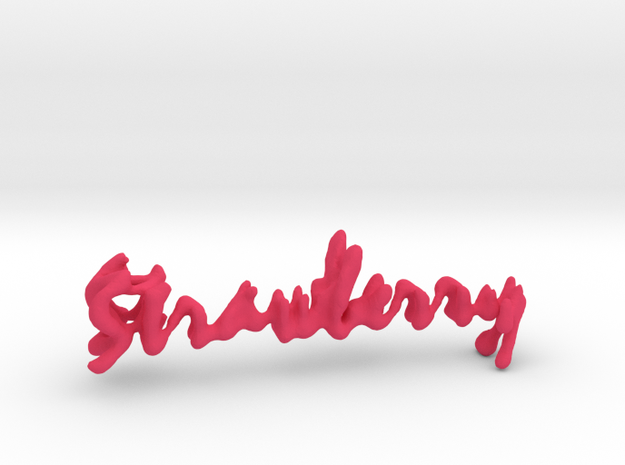 Strawberry Strawberry Necklace in Pink Processed Versatile Plastic