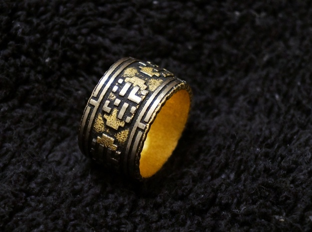 The Wanderer (Ring) in Polished Gold Steel