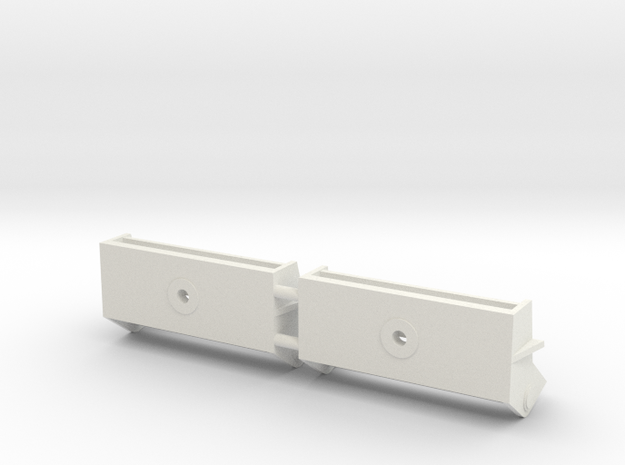1/16 M31 Tow Hook Brackets in White Strong & Flexible