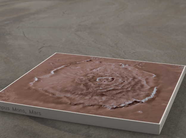 Olympus Mons, Mars, 1:5000000 in Full Color Sandstone