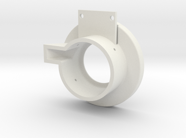 Rampage Encoder Mount Left Front in White Strong & Flexible