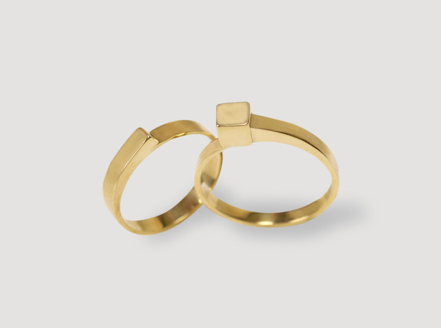 Staccato Cubico in 14k Gold Plated Brass: 7 / 54