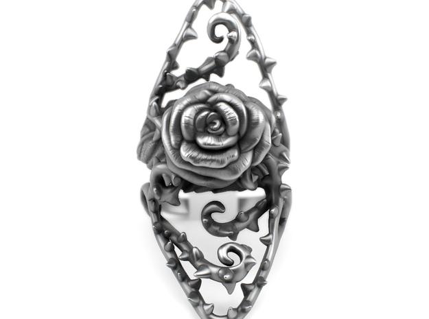 Ring Dangerous - Detailed rose Precious Metal