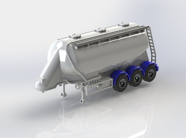 OO 1/76 Feldbinder Cement Flour Tanker - BR  3d printed A computer generated image of the 3D CAD model.