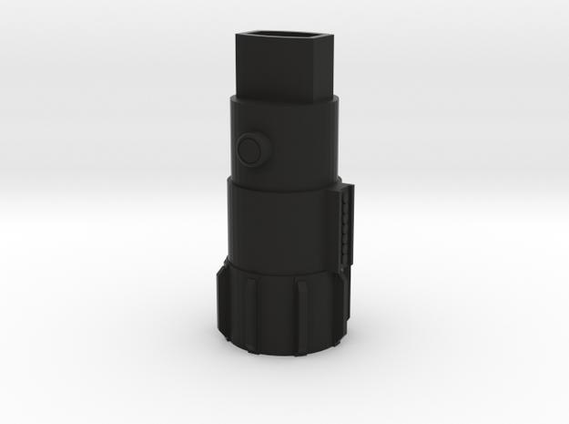"""Luke Skywalker Inspired Inhaler Body - """"Lighthaler in Black Natural Versatile Plastic"""