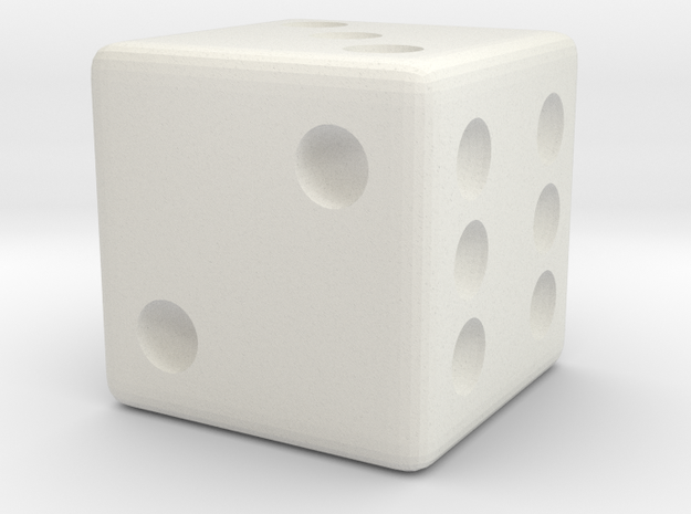 Weighted Dice (Favors a Roll of 3) in White Strong & Flexible