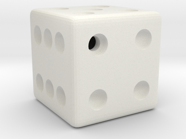 Weighted Dice (Favors a Roll of 4) in White Strong & Flexible
