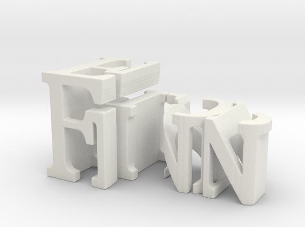 3dWordFlip: Finn/Flop in White Natural Versatile Plastic