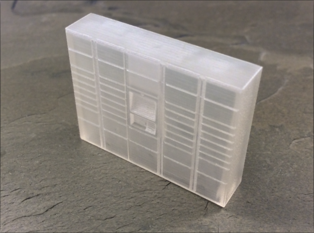 OO Gauge (1/76) Click dnd Collect Locker Medium in Smooth Fine Detail Plastic
