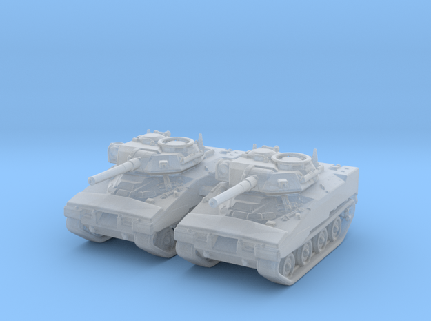 1/285 (6mm) US XM800T LAW Light Tank x2 in Smooth Fine Detail Plastic