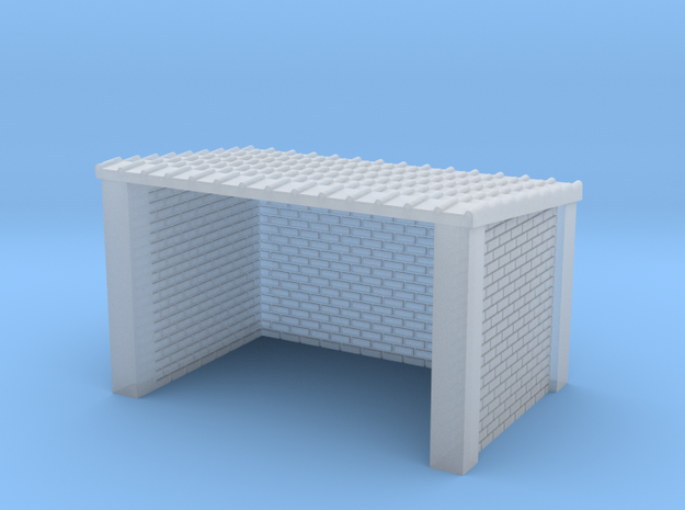 N Gauge Brick Bus Shelter in Frosted Ultra Detail