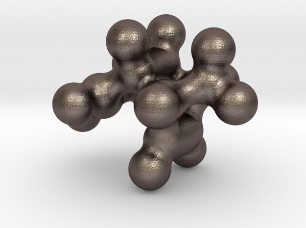 Diels-Alder Cyclopentadiene Dimer II in Polished Bronzed Silver Steel