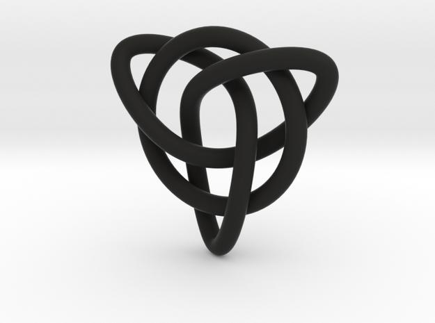Celtic Knot Pendant in Black Natural Versatile Plastic: Small