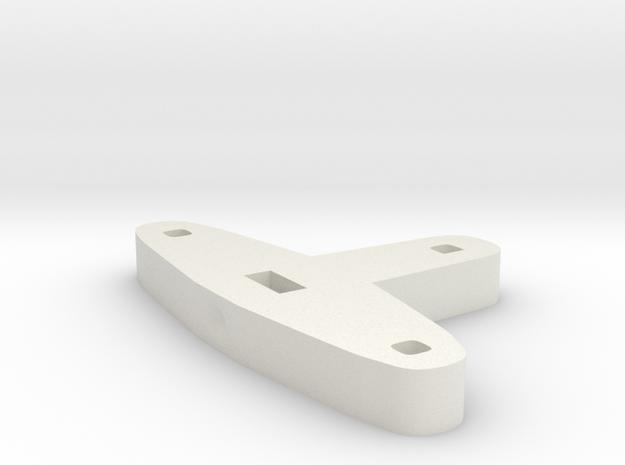 Tiller for Flap Rudder V03 1/100 in White Strong & Flexible
