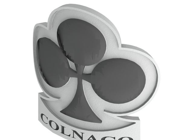 Colnago bicycle front logo in White Natural Versatile Plastic