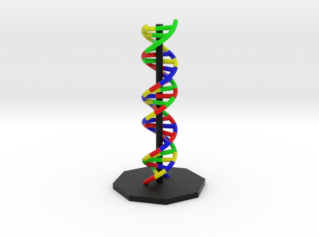 "DNA Molecule Model coding ""Genetics"". 3 Sizes.  in Full Color Sandstone: Small"