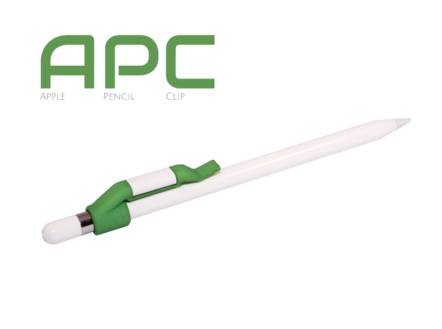 Apple Pencil Clip in Green Processed Versatile Plastic