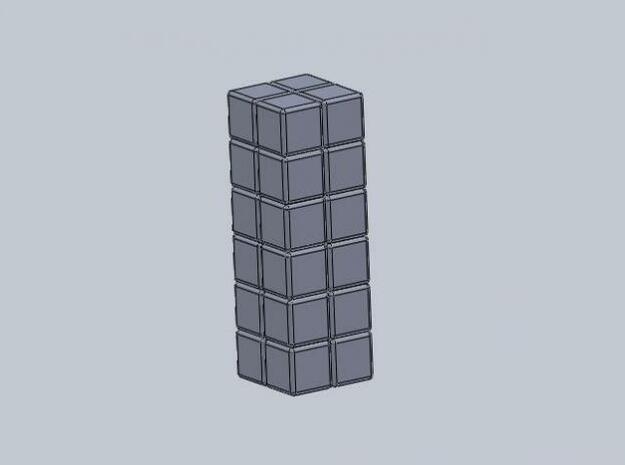 2x2x6 Rubiks Cube 3d printed Description