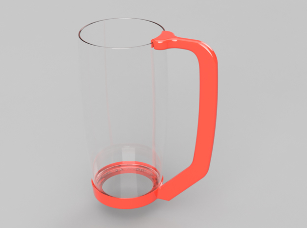 Glass Handle in White Strong & Flexible