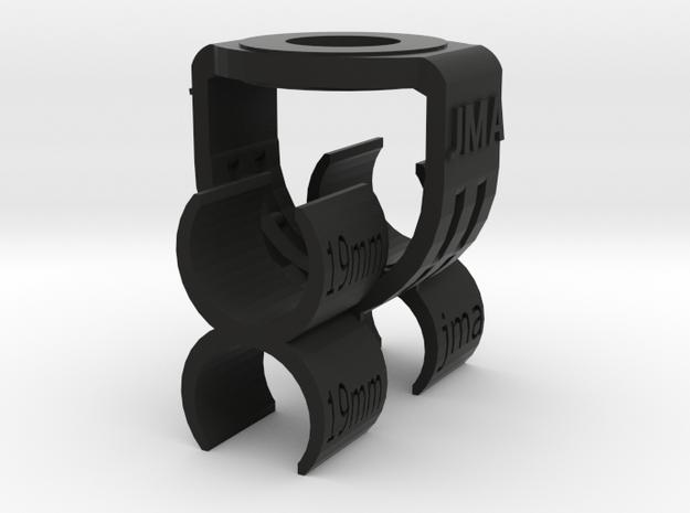 MS Stereo Mic Clip 19mm in Black Natural Versatile Plastic