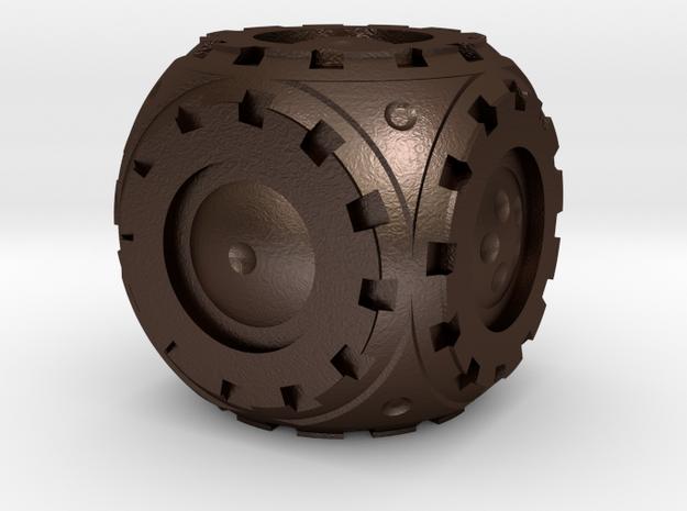 Gear Roller D6 in Matte Bronze Steel